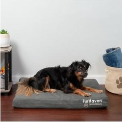 FurHaven Deluxe Oxford Memory Foam Indoor/Outdoor Dog & Cat Bed w/ Removable Cover, Medium, Stone Gray found on Bargain Bro Philippines from Chewy.com for $22.99