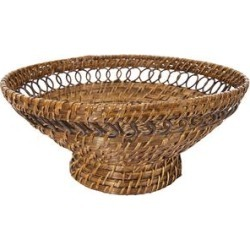Creative Co-Op Baskets - Woven Pedestal Rattan Bowl found on Bargain Bro Philippines from zulily.com for $25.16