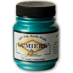 Jacquard Art Paint Pearlescent - Pearlescent Turquoise Lumiere Acrylic Paint found on Bargain Bro India from zulily.com for $6.79
