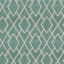 ABBEYSHEA Commitment Fabric in Green/Blue, Size 36.0 H x 57.0 W in | Wayfair COMMI31 found on Bargain Bro Philippines from Wayfair for $21.99