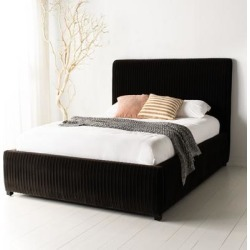 Safavieh Couture Clarice Pleated Velvet Bed found on Bargain Bro from Overstock for USD $1,537.28