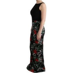 Dolce & Gabbana Multicolor Floral Print Stretch Sheath Long Women's Dress - it40-s (Multi - it40-s)(silk) found on Bargain Bro India from Overstock for $1341.40