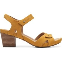 Clarks Women's Sandals Yellow - Yellow Un Palma Vibe Leather Sandal - Women found on Bargain Bro from zulily.com for USD $22.79