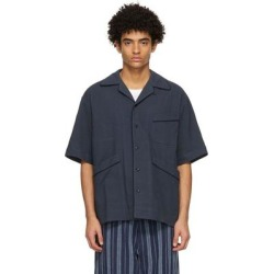 Navy Beach Short Sleeve Shirt - Blue - Nicholas Daley Shirts found on MODAPINS from lyst.com for USD $470.00
