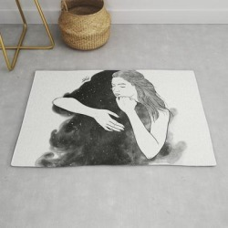 Ordinary Hug. Modern Throw Rug by Muhammed Salah - 2' x 3' found on Bargain Bro Philippines from Society6 for $39.20