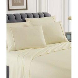 Spirit Linen Home Sheet Sets Ivory - Ivory Solid Six-Piece Sheet Set found on Bargain Bro Philippines from zulily.com for $16.99