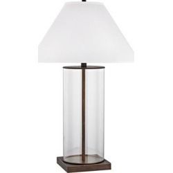 Park Slope Dunbrook Bronze and Clear Glass Table Lamp found on Bargain Bro Philippines from LAMPS PLUS for $358.00