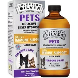 Sovereign Silver Pets Daily+ Immune Support Bio-Active Silver Hydrosol Small Dog & Cat Supplement, 16-oz bottle found on Bargain Bro from Chewy.com for USD $41.79