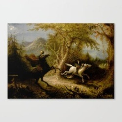 John Quidor Legend Of Sleepy Hollow Headless Horseman Pursuing Ichabod Crane 1858 Canvas Print by Colorfuldesigns - LARGE found on Bargain Bro India from Society6 for $141.59