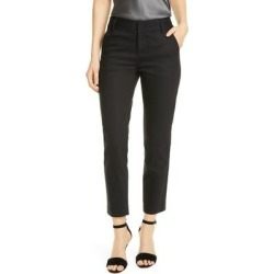 Stacey Slim Stretch Cotton Blend Trousers - Black - Alice + Olivia Pants found on MODAPINS from lyst.com for USD $245.00