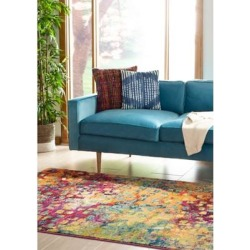 Safavieh Pink/Multi Monaco Blurred Days Area Rug Collection found on Bargain Bro Philippines from belk for $141.50