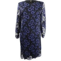 DKNY Women's Long-Sleeve Lace Sheath Dress (6), Purple found on Bargain Bro from Overstock for USD $34.01