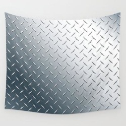Diamond Plate Metal Pattern Wall Hanging Tapestry by Hobrath - 51