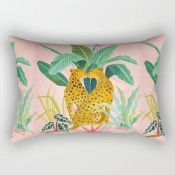 Rectangular Pillow | Cheetah Crush by Sunlee Art - Small (17