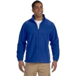 Men's Full-zip Fleece Jacket (4XL,true royal), Blue found on Bargain Bro Philippines from Overstock for $29.69
