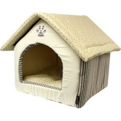 Parisian Pet Pet Beds almond - Almond Plush Pet House found on Bargain Bro from zulily.com for USD $45.59