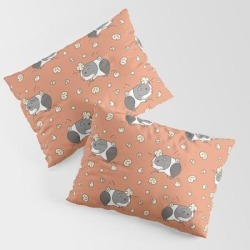 King Size Pillow Sham | Guinea Pig Pattern, Popcorning by Noristudio - STANDARD SET OF 2 - Cotton - Society6 found on Bargain Bro from Society6 for USD $30.39