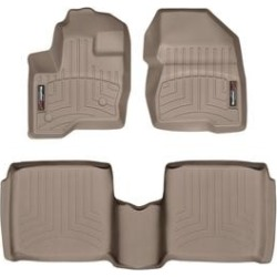 WeatherTech Floor Mat Set, Fits 2010-2019 Lincoln MKT, Primary Color Tan, Material Type Molded Plastic, Model 453121-456502 found on Bargain Bro from northerntool.com for USD $150.40