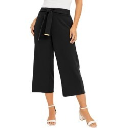 Plus Size Women's Knit Crepe Wide-Leg Crop Pant by Jessica London in Black (Size 12 W) found on Bargain Bro Philippines from Roamans.com for $39.99