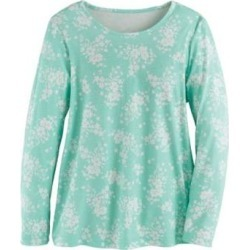 Women's Long-Sleeve Parfait Tee, Beach Glass Floral S Misses found on Bargain Bro from Blair.com for USD $15.19