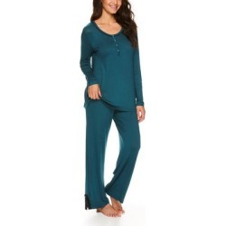 Lamaze Maternity Intimates Women's Sleep Bottoms DT - Dark Teal Button-Front Nursing Pajama Set found on Bargain Bro India from zulily.com for $21.99