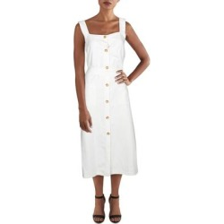 DL1961 Womens Lexia Midi Dress Linen Blend Sleeveless - Oatmeal found on Bargain Bro India from Overstock for $65.29