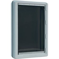 Ideal Pet Products Designer Series Ruff-Weather Pet Door, Tinted, Super Large found on Bargain Bro India from Chewy.com for $119.30