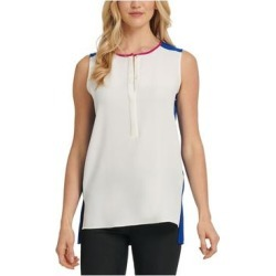DKNY Womens White Solid Sleeveless Jewel Neck Tank Top Size M (White - M), Women's(knit) found on Bargain Bro India from Overstock for $15.98