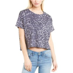 French Connection Leopard Crop Top (XS), Women's, Gray(cotton) found on MODAPINS from Overstock for USD $16.79