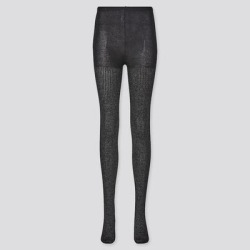 UNIQLO Women's HEATTECH Glitter Knitted Tights , Black, XXS/XS found on Bargain Bro Philippines from Uniqlo for $7.90