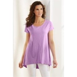 Women Calissa T-Shirt by Soft Surroundings, in African Violet size 1X (18-20)