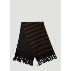 Moncler 1952 Striped Tricot Scarf - Black - Moncler Genius Scarves found on Bargain Bro from lyst.com for USD $424.84