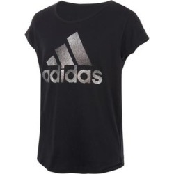 adidas Girls' Tee Shirts BLK - Black Ombre Logo Scoop Neck Tee - Girls found on Bargain Bro Philippines from zulily.com for $14.99