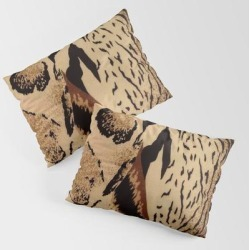King Size Pillow Sham | Leopard,tiger Print by Mm_art - STANDARD SET OF 2 - Cotton - Society6 found on Bargain Bro from Society6 for USD $30.39