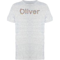 Oliver Flower Name Tee Men's -Image by Shutterstock (XXL), Women's, Gray found on Bargain Bro from Overstock for USD $12.91