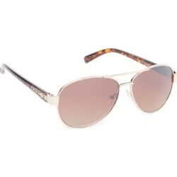 Jessica Simpson Collection Women's Sunglasses GOLD - Gold & Tortoise Aviator Sunglasses found on Bargain Bro from zulily.com for USD $11.39