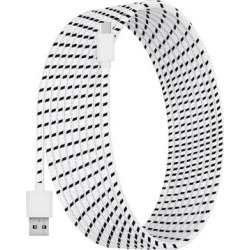 Tech Zebra Lightning Cables White - White 10' Nylon USB-C Cable found on Bargain Bro from zulily.com for USD $6.83