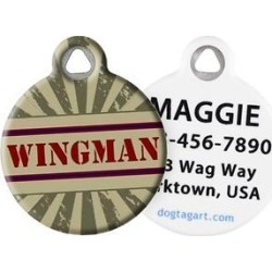 Dog Tag Art Wingman Personalized Dog & Cat ID Tag, Large