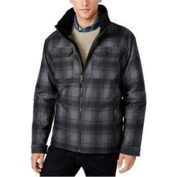 Free Country Mens Plaid Canvas Utility Parka Coat (Large), Men's, Black found on MODAPINS from Overstock for USD $98.99
