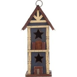 Glitzhome Solid Wood & Metal Bird House, 12.60-in found on Bargain Bro India from Chewy.com for $25.64