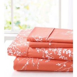 Spirit Linen Home Sheet Sets Coral - Coral & White Foliage Sheet Set found on Bargain Bro Philippines from zulily.com for $14.99