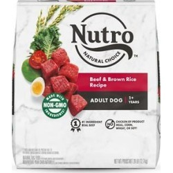 Nutro Natural Choice Adult Beef & Brown Rice Recipe Dry Dog Food, 28-lb bag
