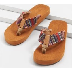 Maurices Womens Leah Multi Stripe Flip Flop - Size 12 found on Bargain Bro from Maurices for USD $15.12