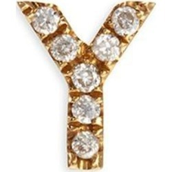 Diamond 18k Yellow Gold Letter Charm – Y - Metallic - Loquet London Earrings found on Bargain Bro from lyst.com for USD $304.00