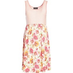 Anticipation Women's Casual Dresses CORAL/PINK - Coral & Pink Floral & Stripe Maternity Empire-Waist Dress found on Bargain Bro from zulily.com for USD $15.19