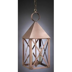 Northeast Lantern York 19 Inch Tall 1 Light Outdoor Hanging Lantern - 7042-AC-MED-SMG