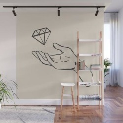 Diamond Thief White Wall Mural by Morgan Elise - 8' X 8' found on Bargain Bro India from Society6 for $209.99
