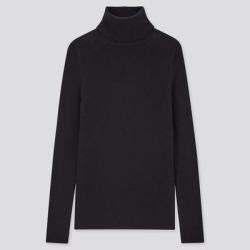 UNIQLO Women's Extra Fine Merino Ribbed Turtleneck Sweater, Navy, XXL found on Bargain Bro Philippines from Uniqlo for $39.90