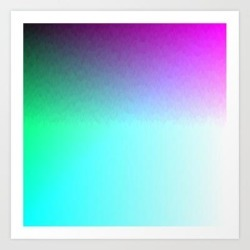 Art Print | Six Color Ombre Cyan, Purple, Green, Pink, Purple, Blue, Spectrum Flame Texture by Angela Chang - X-Small - Society6 found on Bargain Bro India from Society6 for $15.99