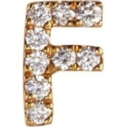 Diamond 18k Yellow Gold Letter Charm – F - Metallic - Loquet London Necklaces found on Bargain Bro from lyst.com for USD $304.00